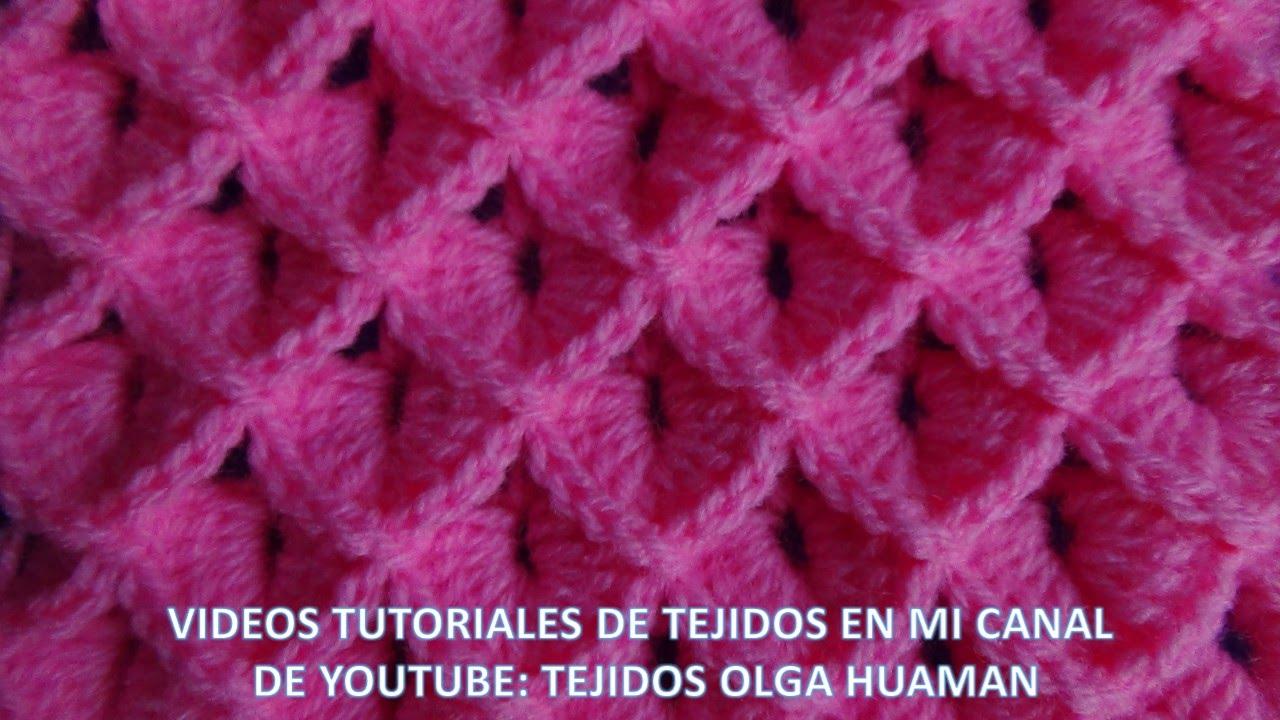 punto cocodrilo tejido a crochet paso a paso para colchas