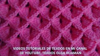 Puntos tejidos a crochet y/o ganchillo paso a paso fácil de tejer en video tutorial, puntos tejidos especiales para tejer colchita o mantita de bebe, chompas, ...