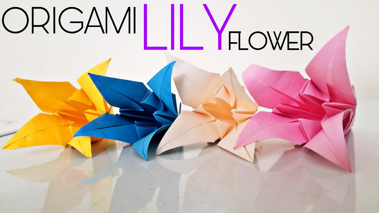 ORIGAMI LILY FLOWER l How to Make Origami Lily Flower From Paper l DIY Paper Craft