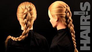 Делаем объемную косу с подхватами - видеоурок (мастер-класс) Hair's How