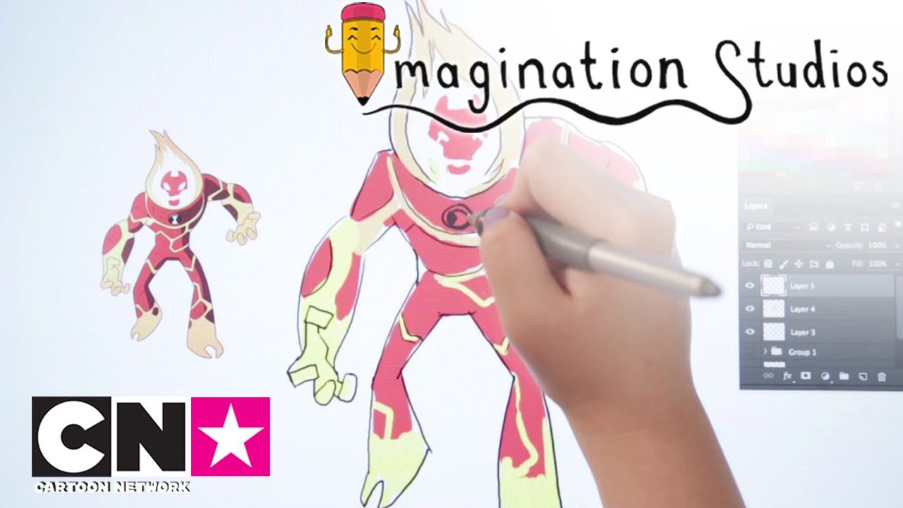 Comment Dessiner Inferno Ben10 Imagination Studios Cartoon
