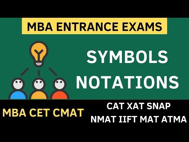 MBA CET 2020 - SYMBOLS AND NOTATIONS, INEQUALITIES | MBA CET 2020 PREPARATION