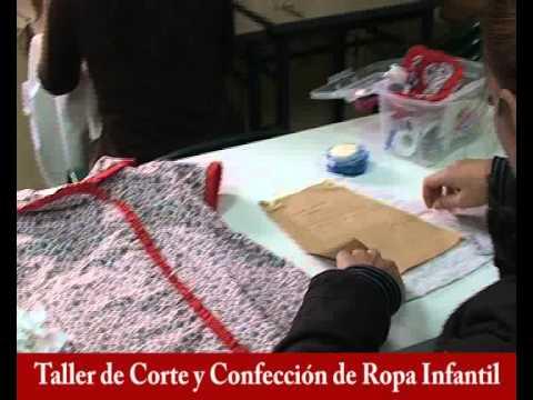 taller de corte y confección de ropa infantil, monitora maría del