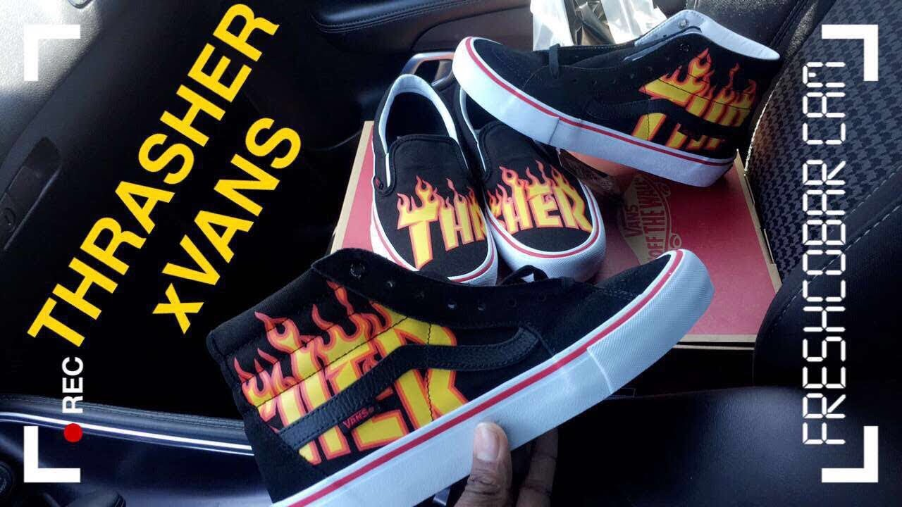 ed3ca6f1304258 Vans x Thrasher Collection Pickup Vlog   Unboxing - YouTube