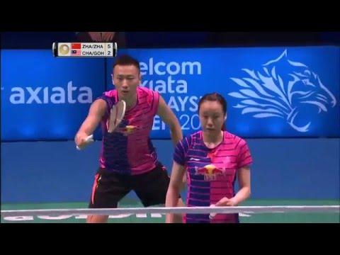 Celcom Axiata Malaysia Open 2016 | Badminton SF M3-XD | Zhang/Zhao vs Chan/Goh