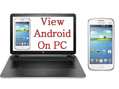 How To View Android Or IOS Phone Screen On PC Or Laptop (No Root) Free