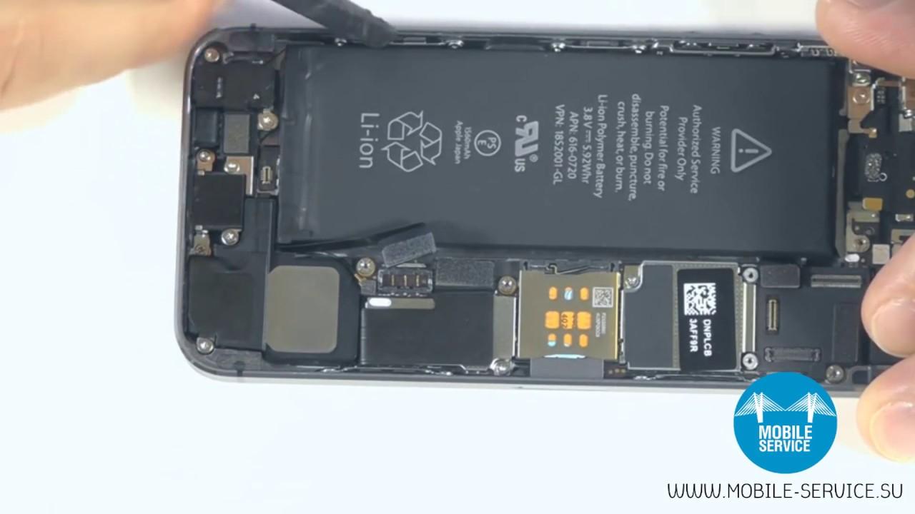 куда замена батареи iphone 5