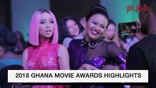 Ama Macbrown mocks Rosemond Brown's english on stage at the Golden Movie Awards 2018 | Pulse Events