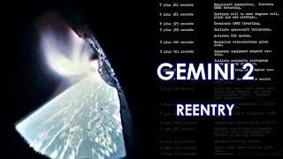 GEMINI 2 Reentry (Correct Speed) - 1965/01/19