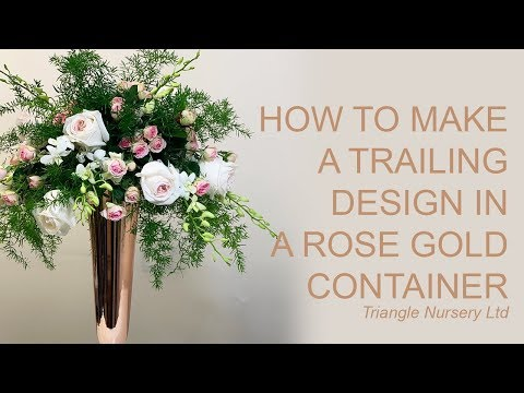 How To Create A Trailing Floral Arrangement In Rose Gold Conical Vase - Wholesale Flowers Direct
