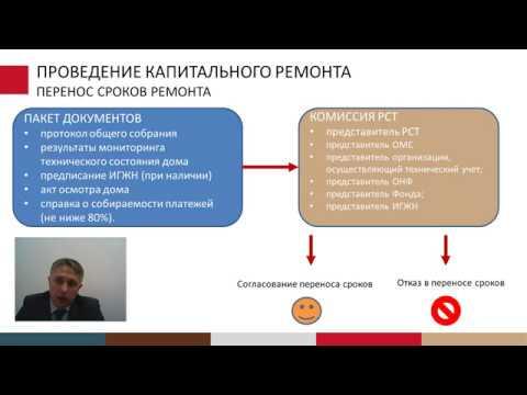 Вебинар зам.директора Фонда капремонта ПК