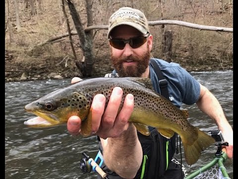 "NEW PA TROUT VIDEO ""Catch Cam Net"" Wild PA Brown and Rainbow Trout/ Lively Legz Crew"