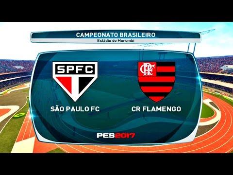 SÃO PAULO X FLAMENGO ( 1080p / 60FPS ) ESTÁDIO DO MORUMBI - PES 17
