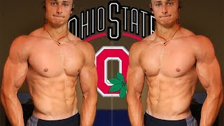 OHIO STATE ORIENTATION | PHYSIQUE UPDATE and Chest and Back Workout