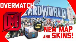 OVERWATCH GRAND OPENING OF BLIZZARD WORLD - NEW SKINS AND MORE OPENING 50 LOOT BOXES