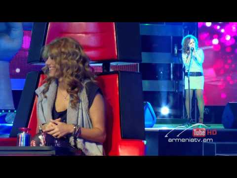 Satenik Sargsyan,Left Outside Alone by Anastacia - The Voice Of Armenia - Blind Auditions - Season 1