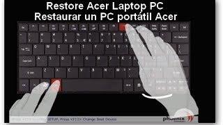 Restaurar un PC portátil ACER ASPIRE 5741 de Fabrica | Acer aspire 5741 recovery partition work