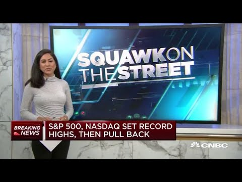 S&P 500, Nasdaq set record highs at open, then pulled back