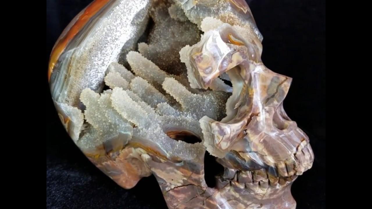 Skullis crystal skull dinosaur egg agate geode super