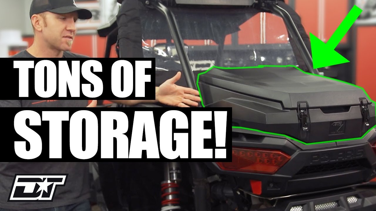 jemco cargo boxes for your rzr you won t believe how much stuff this holds