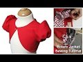 How to sew a Bolero Jacket for Girls - Sewing Tutorial