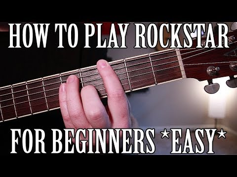 "How to play ""Rockstar"" by Post Malone on Guitar for Beginners *EASY*"