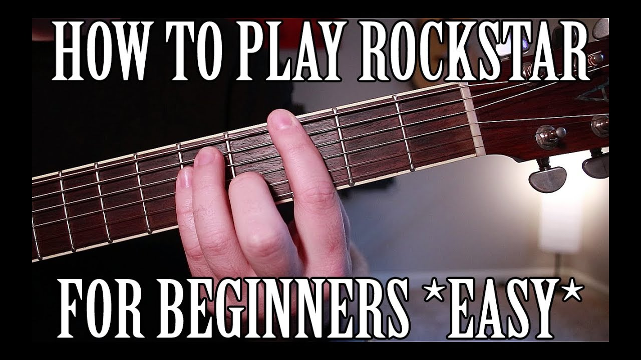 How to play rockstar by post malone on guitar easy youtube how to play rockstar by post malone on guitar easy hexwebz Images