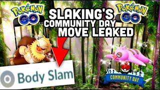 Slaking's Community Day move leaked in Pokemon GO | Slakoth Community Day news