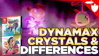 Dynamax Crystals, Version Exclusives, & Preorder Bonuses for Pokemon Sword & Shield