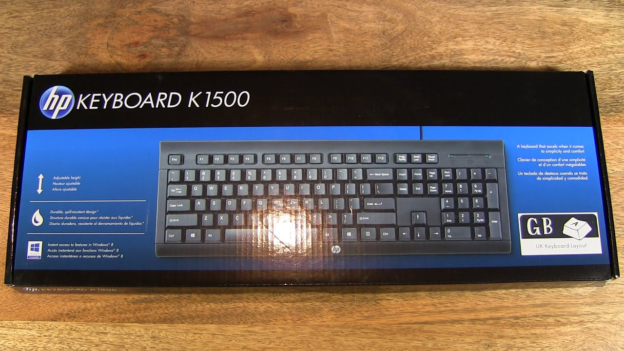 unboxing of the hp k1500 wired keyboard youtube. Black Bedroom Furniture Sets. Home Design Ideas