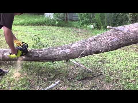 Ryobi 40 volt cordless chain saw lithium ion battery review