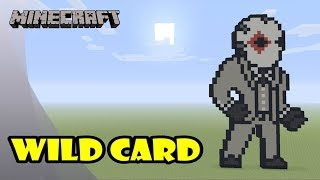 Minecraft: Pixel Art Tutorial: Wild Card (Diamonds) (Fortnite Battle Royale)