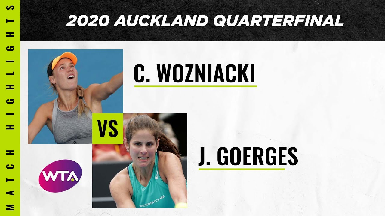 Caroline Wozniacki vs. Julia Goerges | 2020 Auckland Open Quarterfinal | WTA Highlights