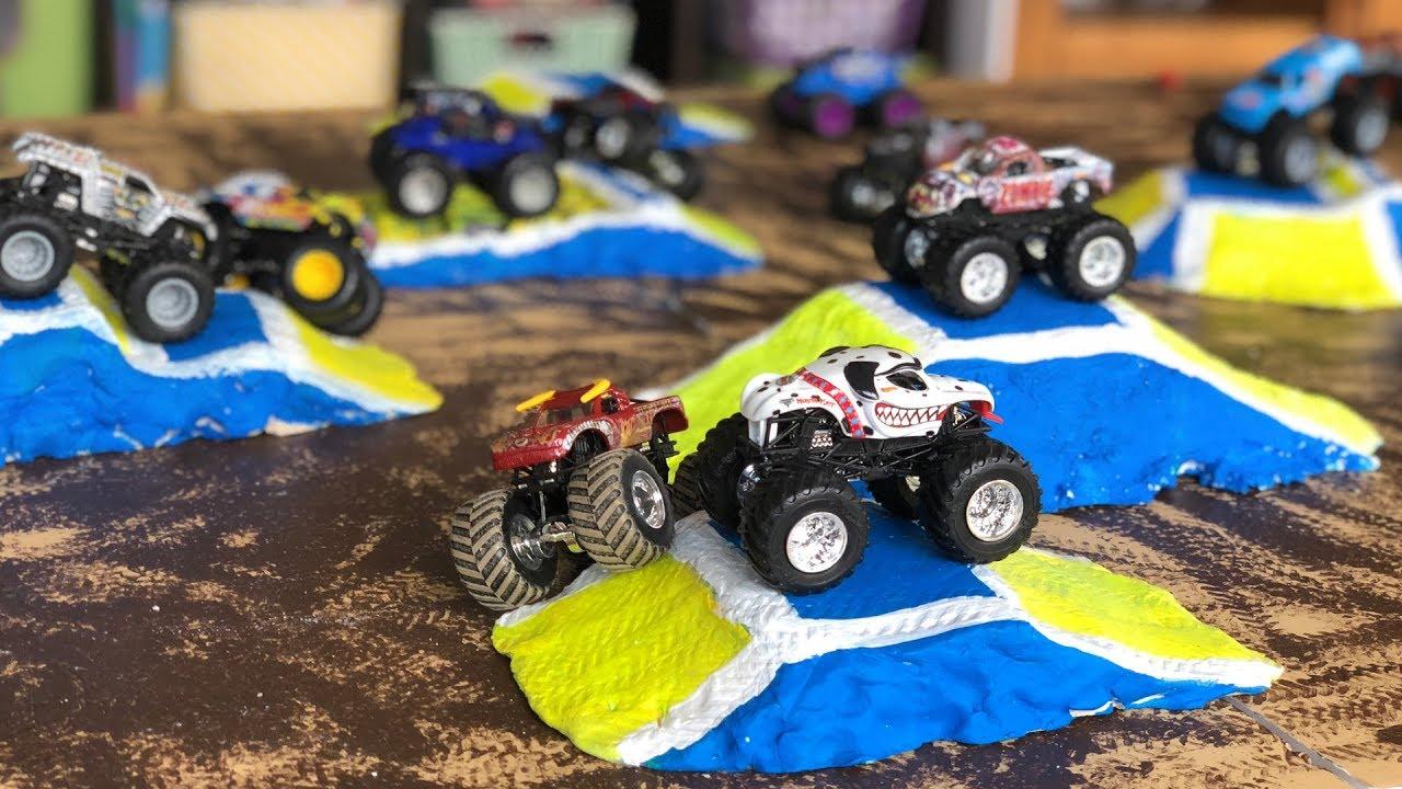 Diy Monster Jam Toy Track Jumps For Hot Wheels Trucks Youtube
