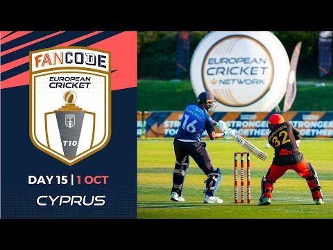 🔴 FanCode European Cricket T10 Cyprus,  Limassol | Day 15 T10 Live Cricket
