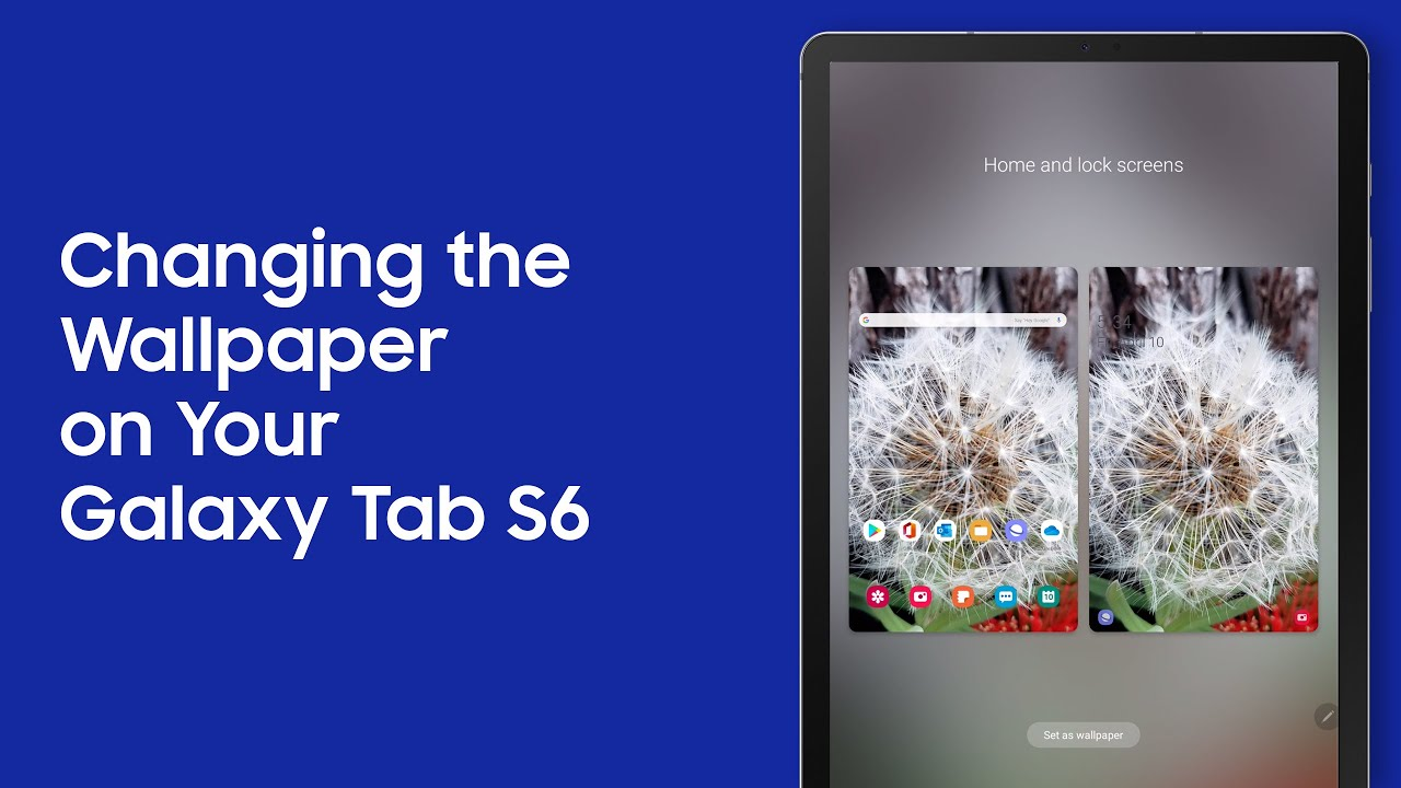Changing The Wallpaper On Your Galaxy Tab S6 Youtube