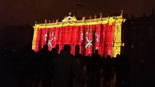 Световое шоу на Дворцовой площади Спб