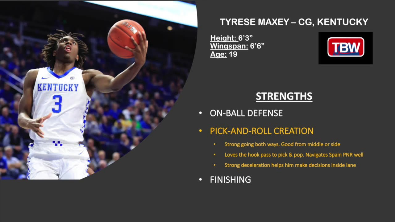 2020 Nba Draft Tyrese Maxey Strengths Youtube