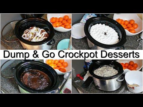 DUMP & GO CROCKPOT DESSERTS | QUICK & EASY RECIPES