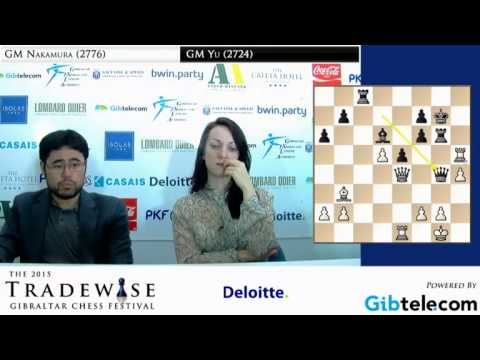 Hikaru Nakamura analysis his crushing win against Yu Yangyi - Gibraltar Chess Festival 2015