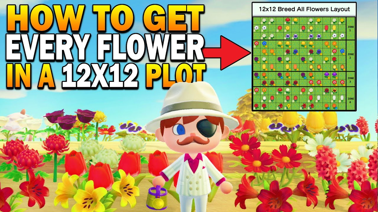 How To Get Every Hybrid Flower In A 12x12 Area Datamined Animal