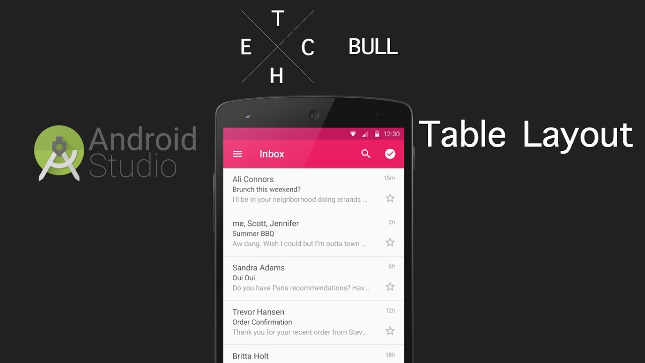 how to add table column android studio