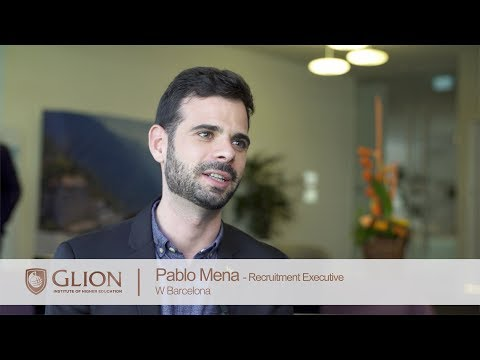 W Barcelona at the Glion Recruitment Day 2017