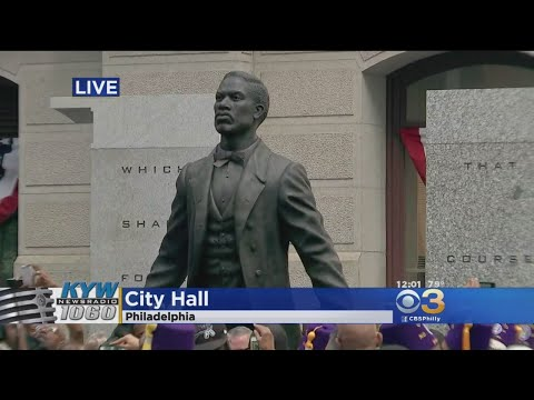 Civil Rights Leader Octavius Catto Statue Unveiled Outside City Hall