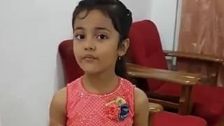 Mere Rashke Qamar cover song by 7 years old girl
