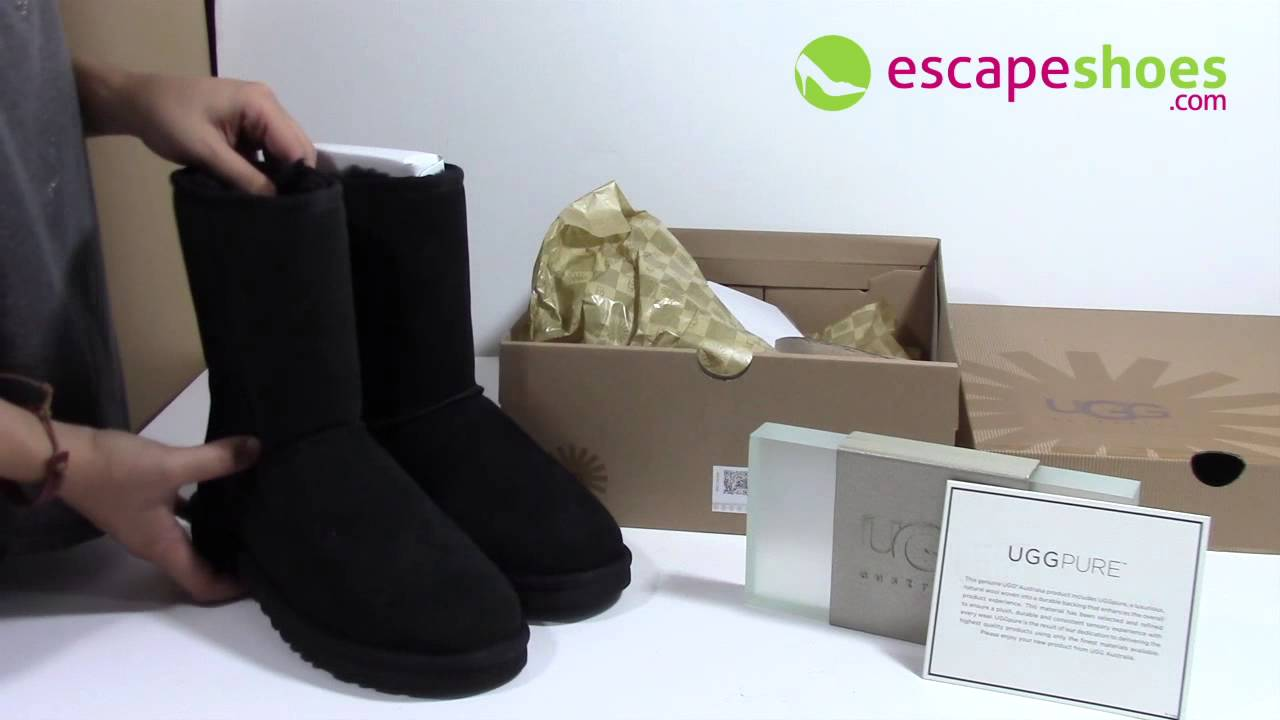 aaa9f29b60 UGG Australia Classic Short Black 5825 - YouTube