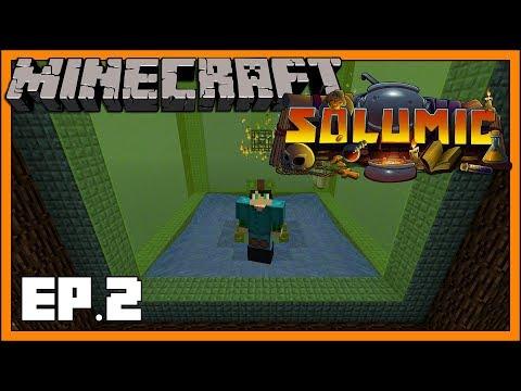 Solumic Skyblock - EP2 - Iron Golem Spawner & Base Building