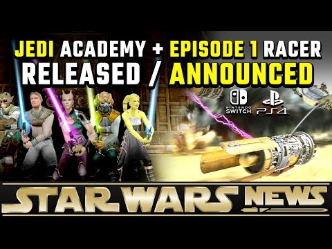 Jedi Academy RELEASED On PS4/Switch + Episode 1 Racer Announced | Star Wars News