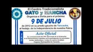 """Tancacha- """"Gato y Mancha"""" 9 DE JULIO 2012.wmv"""
