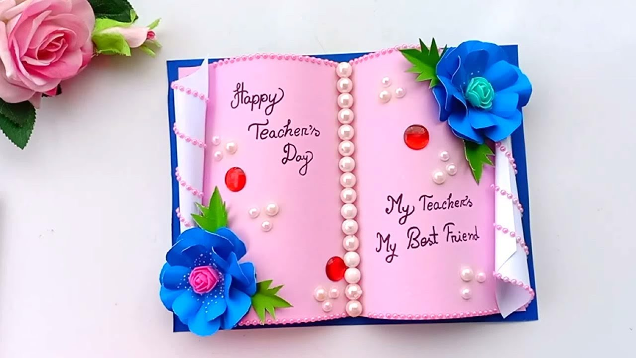 diy teacher's day card handmade teachers day card making idea